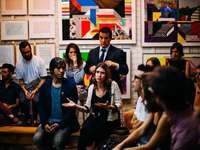 people meeting in room