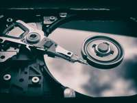 foto av optisk skivenhet - Hotad teknik. Plauen, Tyskland