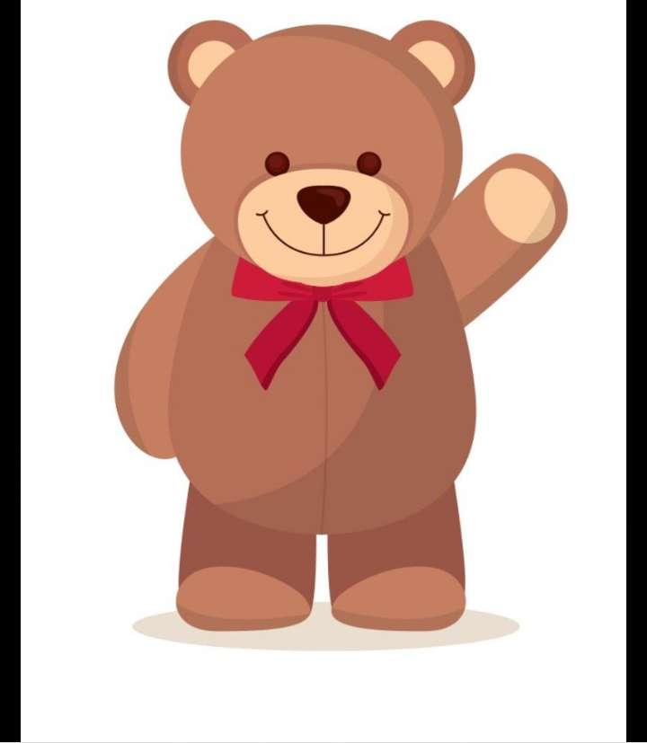 Teddy Bear Day - Is this the teddy bear waving to you (7×9)