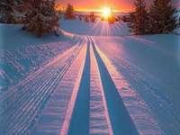Vinter i Norge. - Landskap pussel.