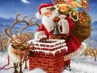 Mikulás bácsi - December éjjelén a jó öreg Mikulás ajándékot visz a jó gyerekeknek