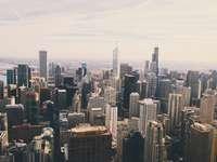 vedere aeriană a orașului cu zgârie-nori - Am făcut o excursie de o zi la Chicago cu fratele meu și un prieten apropiat. Ne-am aventurat la e