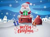 père Noël - Disposer les pièces pour compléter l'image