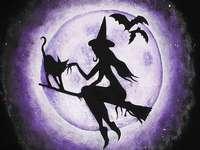 boszorkány - puzzle boszorkány óvodásoknak