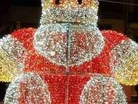 Mikulás - karácsonyi fények egy aranyos Mikulás