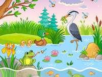 ζώα δίπλα στη λίμνη - ζώα δίπλα στη λίμνη
