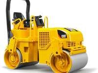 Válec - stavební zařízení - Na tomto obrázku máme stroj používaný ve stavebnictví - válec