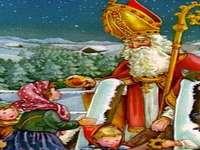 Puzzle Mos Nicolae - Puzzle di Babbo Natale per bambini di grado