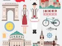 Pittoresca Romania - Il costume popolare rumeno, alcuni edifici culturali e le insegne del paese