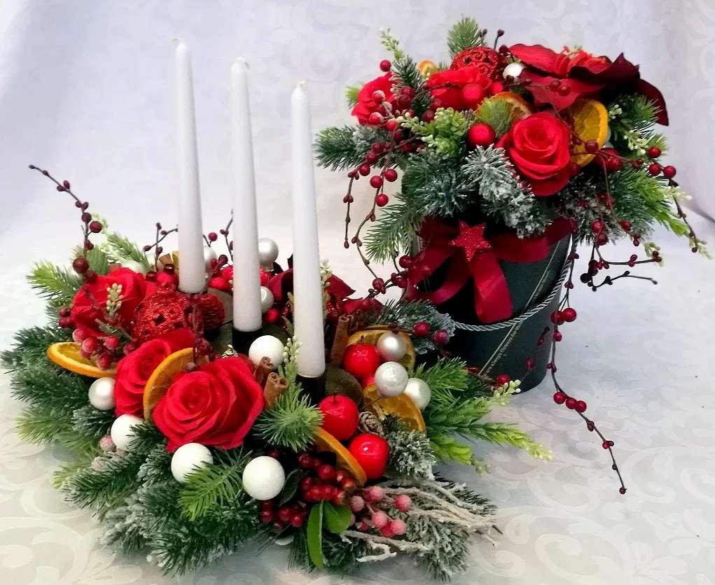 o coafură și un buchet de Crăciun - m (10×9)