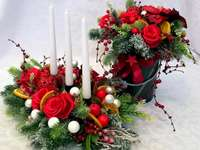 a headdress and a Christmas bouquet - m ......................