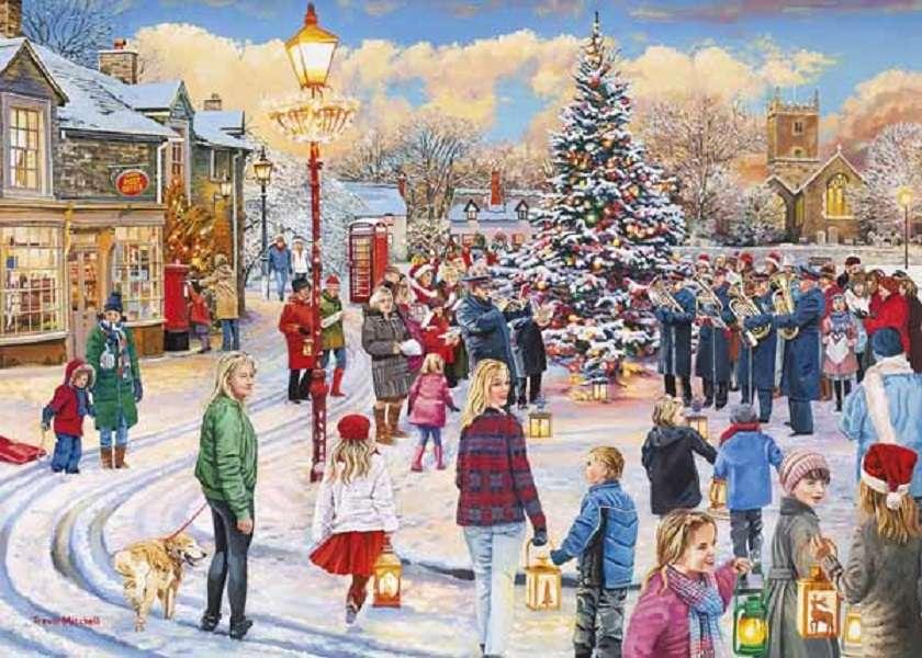 Vánoční skládačka - Hádanka. Vánoce (12×9)