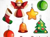 Karácsonyfa díszek - Különböző anyagok, amelyekből dekorációkat készítettem.