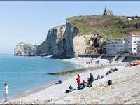 etretat- arco de rocha, praia - m ......................