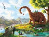 dinosaurie - Dino-pussel för barn att gissa