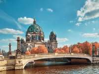 изглед - Небесно синьо, дворец, мост