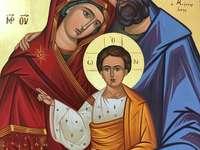 """Византийска икона """"Свето семейство"""""""