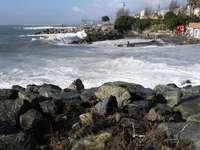 Tempête de mer à Pegli - Tempête de mer à Pegli, Gênes