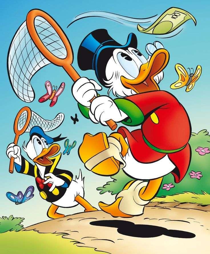 DONALD DUCK - Kaczor Fauntleroy Donald (Donald Fauntleroy Duck, eigendom van Paperino) - zoon van Kaczor Kwaczymon en Hortensja McKwacz, broer van Della en oom van Hyzia, Dyzia en Zyz. Donald wordt altijd gekweld d (2×3)