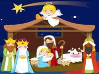 Puzzle: The Manger - The birth of baby Jesus
