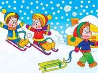 καλό χειμώνα - ένα παζλ για παιδιά 4 ετών