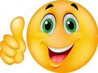 συναισθήματα ευτυχίας - τακτοποιήστε τα μισά για να δημιουργήσετε ένα παζλ