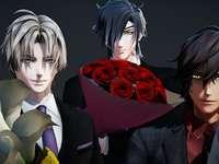 3 όμορφα παιδιά σας προσφέρουν λουλούδια - 3 όμορφα παιδιά σας προσφέρουν λουλούδια (χαρακτήρες Tou