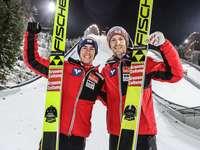 Stefan Kraft et Michael Hayböck - Stefan Kraft et Michael Hayböck - sauteurs à ski autrichiens.