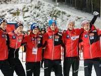 Sauteurs à ski autrichiens. - Sauteurs à ski autrichiens.
