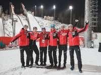 Austriaccy skoczkowie narciarscy. - Austriaccy skoczkowie narciarscy.