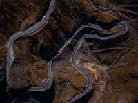 a cikk-cakk út légi fényképezése