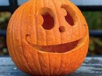 oranžový dekor Jack-O'-Lantern