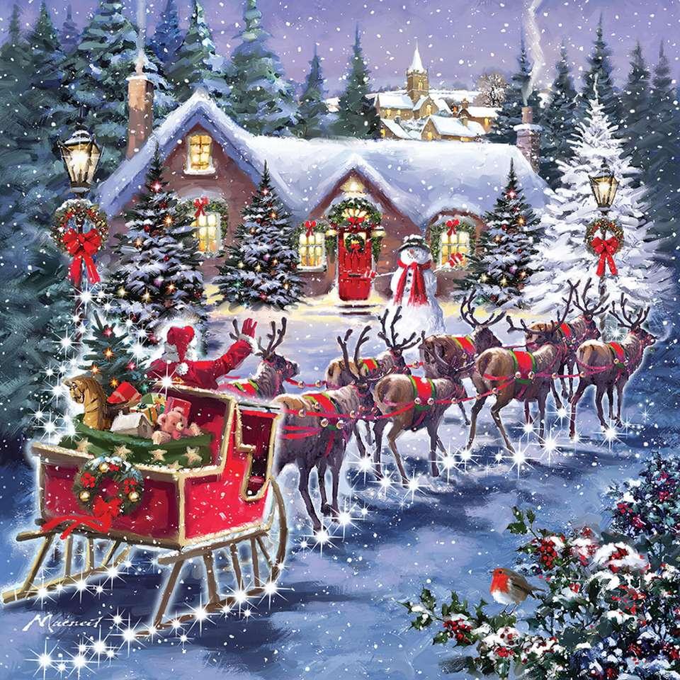 Cadeaux du Père Noël - Puzzle: cadeaux du Père Noël (10×10)