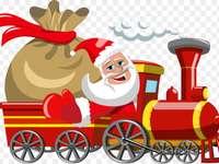 Moș Crăciun care poartă cadouri - m ...........................