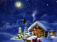 Зимен коледен пейзаж