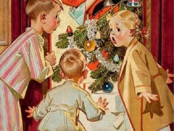 Santa Claus polibky máma