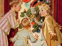 Дядо Коледа целува мама
