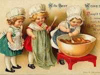 Μικρά κορίτσια παίρνουν το κέικ!