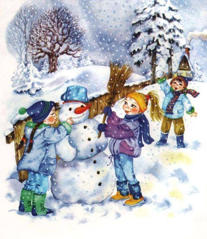 Omul de zăpadă - Să construim un om de zăpadă (7×9)