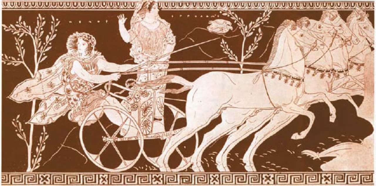 ancient olympic games - Pelopas and Hippodameia (10×5)