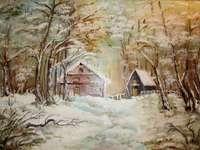 L'hiver dans les bois