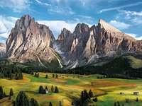 hegyek, rétek