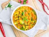 Piatto vegetariano indiano