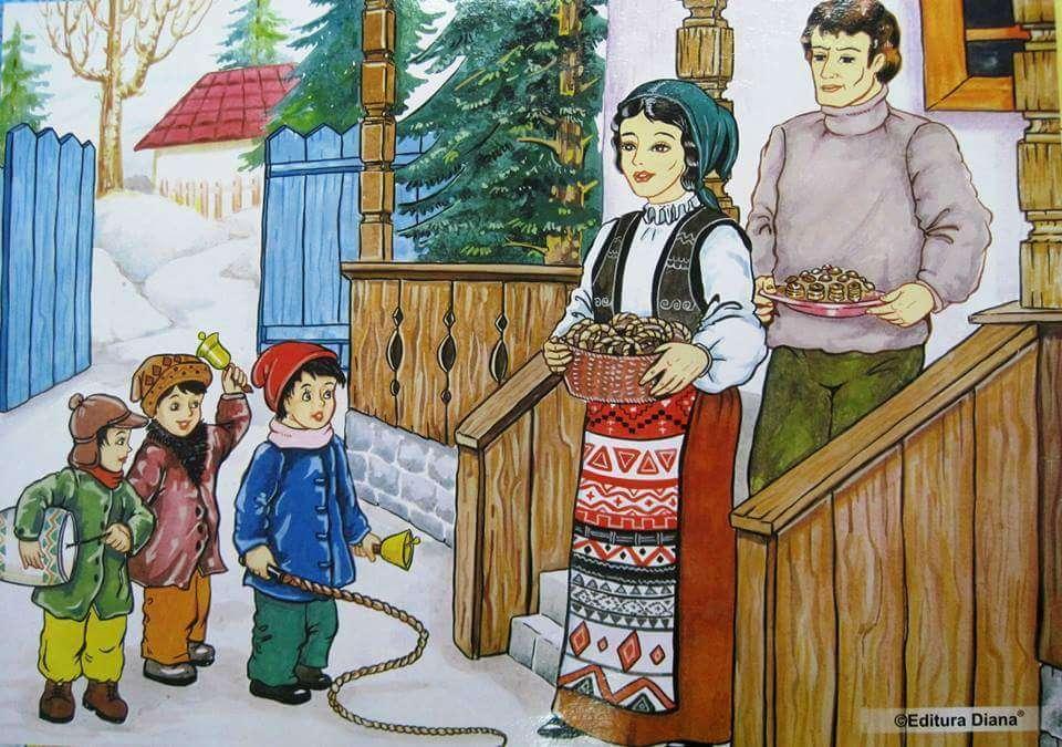 Obiceiuri și tradiții de iarnă-Pluguşorul (4×3)
