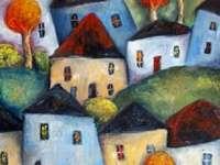 Casas e árvores