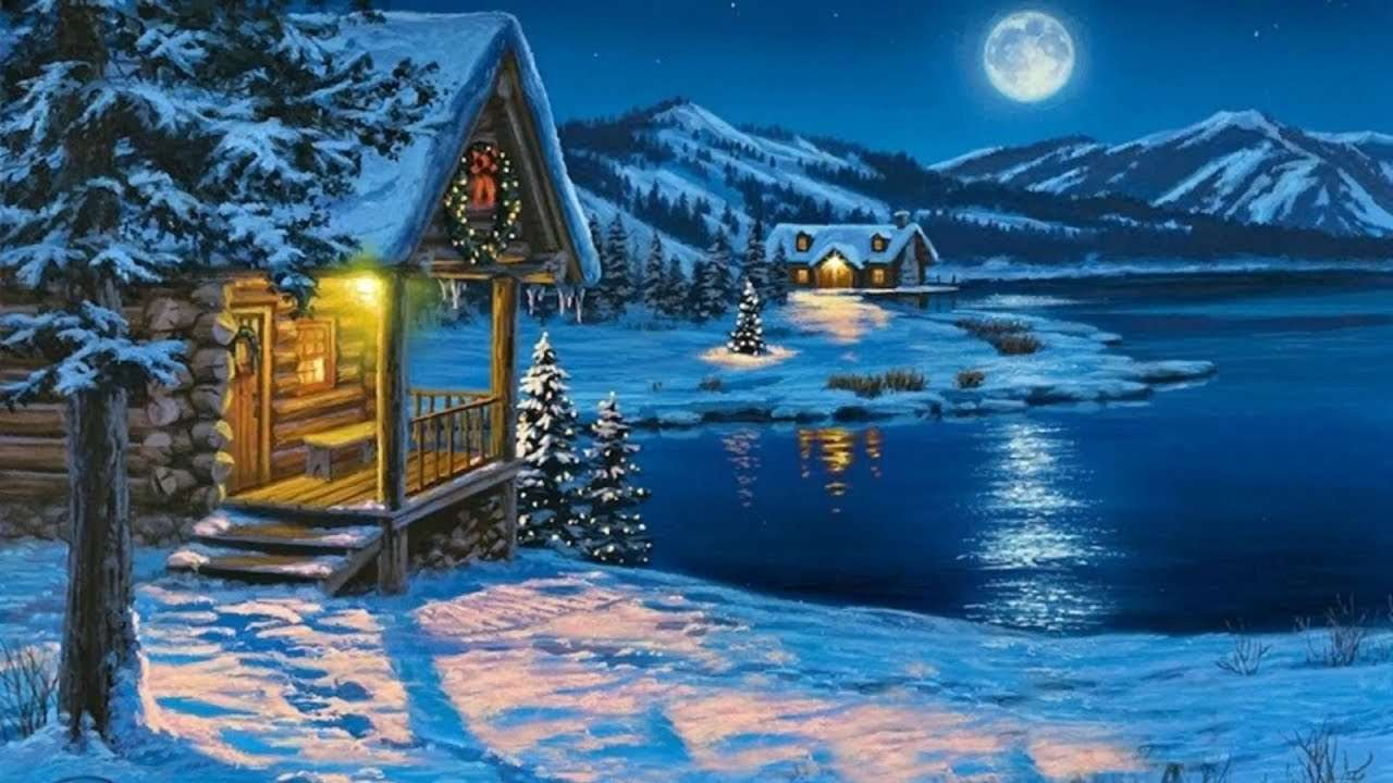 O lindo inverno quebra-cabeça