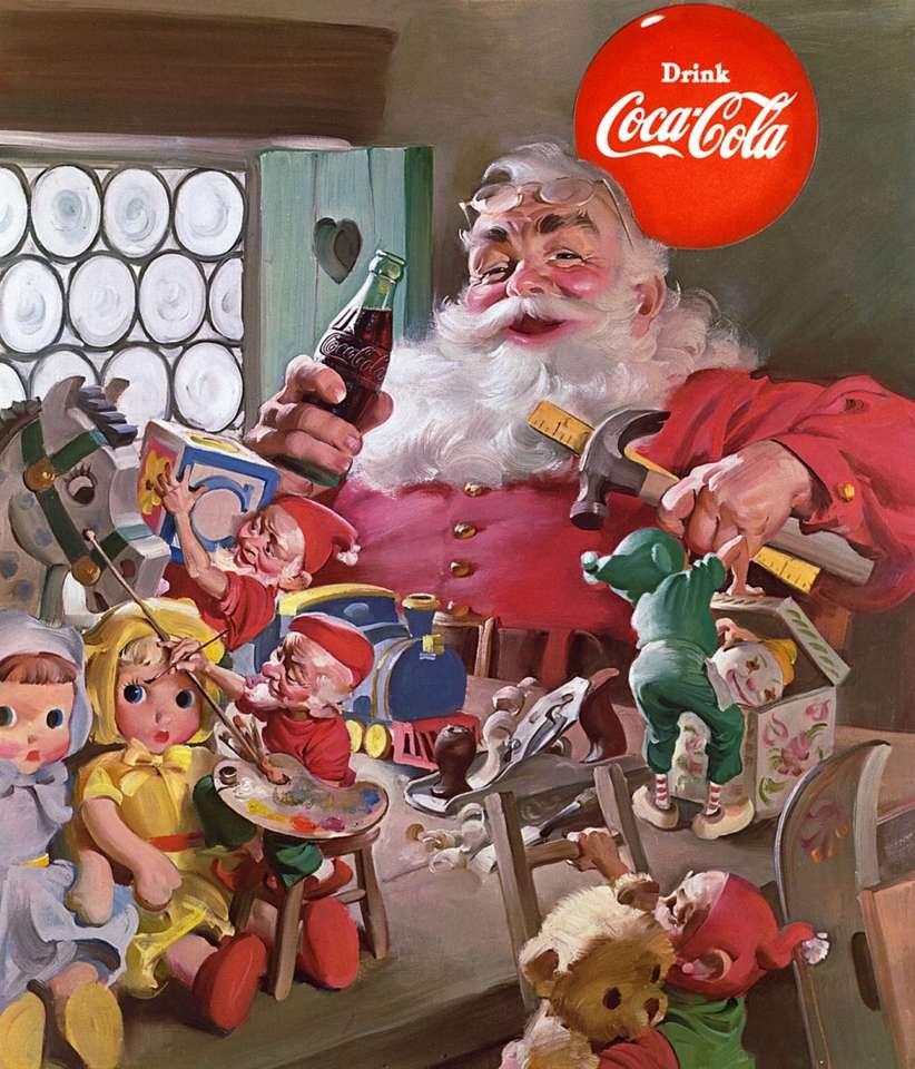 père noël avec coca cola - m (9×11)