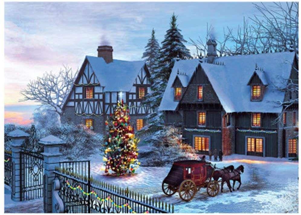 Christmas magic - - Christmas painting - (15×11)