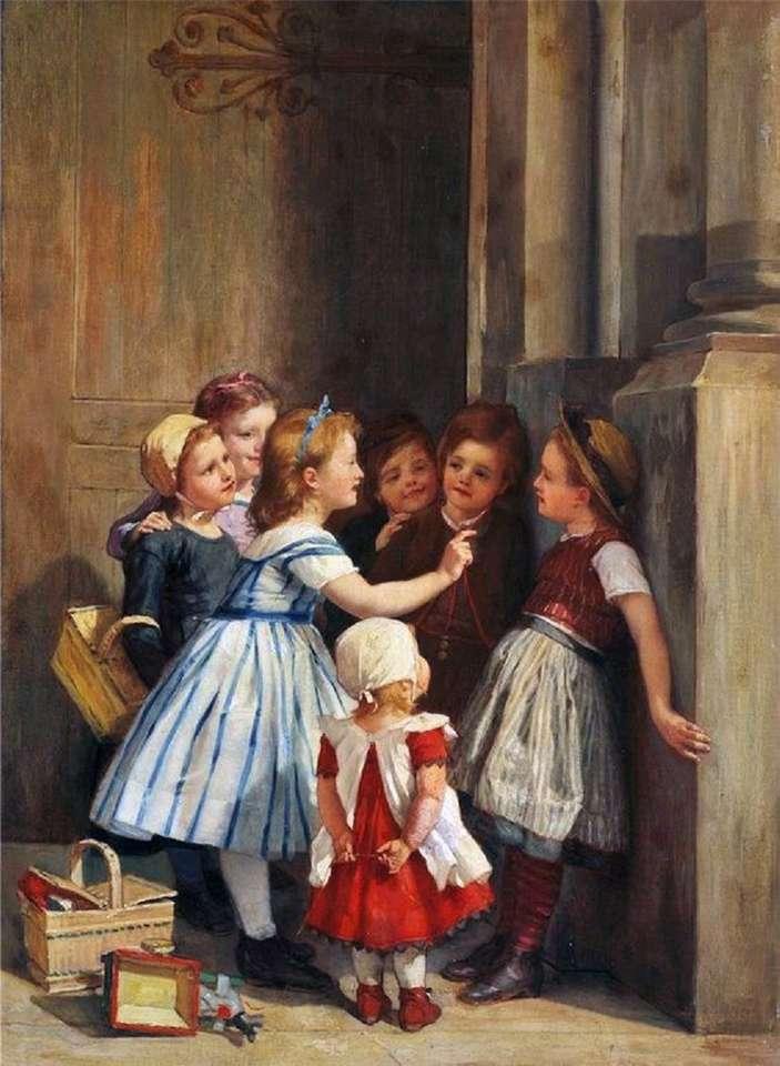Kleine Mädchen zählen (9×13)