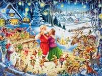 Danser avec le père Noël.